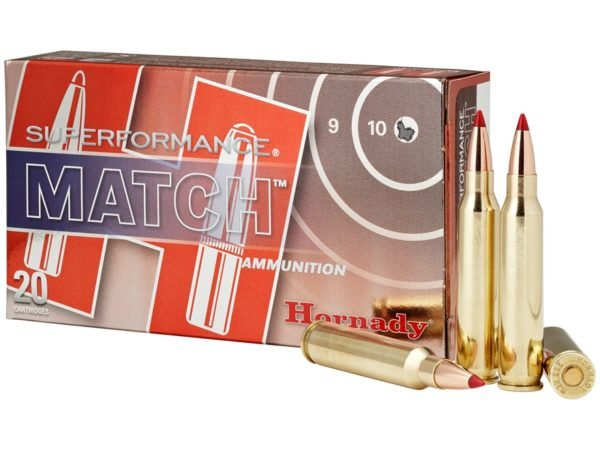 Hornady Ammo 223 Rem 73 Grain ELD-M (Extremly Low Drag) Match Superformance (20)