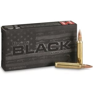 Hornady Ammo 223 Rem 75 Grain Hollow Point Boat Tail Match Black (20)