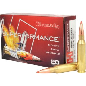 Hornady Ammo 7mm-08 Rem 139 Grain SST (Super Shock Tip) Superformance(20)