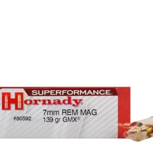 Hornady Ammo 7mm Rem Mag 139 Grain GMX (MonoFlex) Superformance (20)