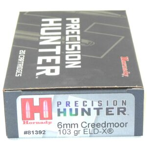 Hornady Ammo 6mm Creedmoor 103 Grain ELD-X (Extremly Low Drag) Hunting (20)