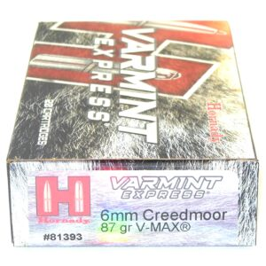 Hornady Ammo 6mm Creedmoor 87 Grain V-MAX (20)