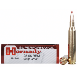 Hornady Ammo 25-06 Rem 90 Grain GMX (MonoFlex) Superformance