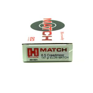Hornady Ammo 6.5 Creedmoor 147 Grain ELD-M (Extremly Low Drag) Match (20)