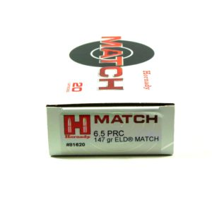 Hornady Ammo 6.5 Prc 147 Grain ELD-M (Extremly Low Drag) Match (20)