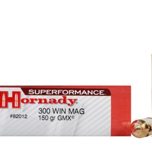 Hornady Ammo 300 Win Magnum 150 Grain GMX (MonoFlex) Superformance (20)