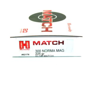 Hornady Ammo 300 Norma Magnum 225 Grain ELD-M (Extremly Low Drag) Match (20)