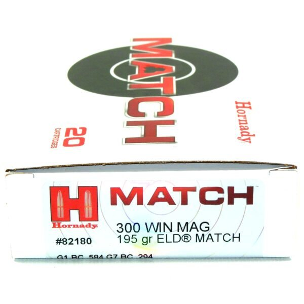 Hornady Ammo 300 Win Magnum 195 Grain ELD-M (Extremly Low Drag) Match (20)
