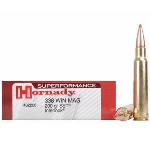 Hornady Ammo 338 Win Magnum 200 Grain SST (Super Shock Tip) Superformance