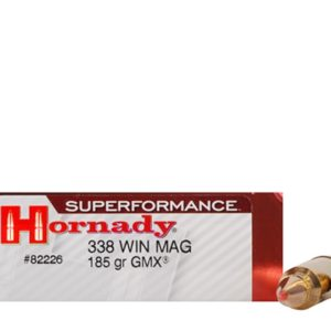 Hornady Ammo 338 Win Magnum 185 Grain GMX (MonoFlex) Superformance (20)