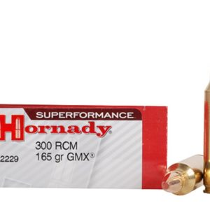 Hornady Ammo 300 RCM 165 Grain GMX (MonoFlex) Superformance (20)