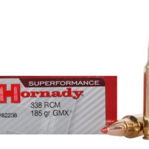 Hornady Ammo 338 RCM 185 Grain GMX (MonoFlex) Superformance (20)