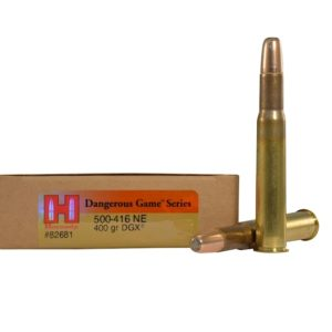 Hornady Ammo 500-416 Nitro Express 400 Grain DGS (Dangerous Game Solid) (20)