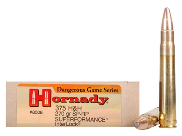 Hornady Ammo 375 H&H 270 Grain Soft Point-Recoil Proof Superformance