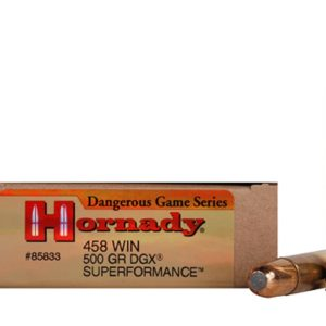 Hornady Ammo 458 Win 500 Grain DGX Bonded (Dangerous Game eXpanding) Superformance (20)