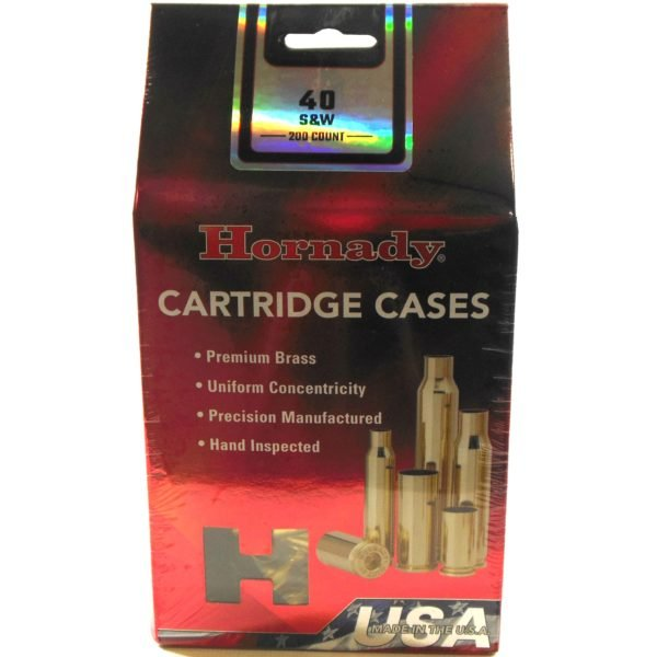 Hornady Brass Unprimed 40 S&W (200) 5/Cs