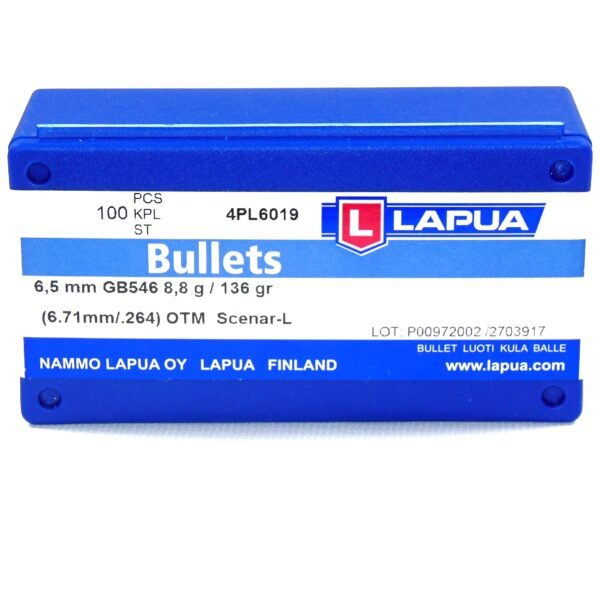 Lapua .264 / 6.5mm 136 Grain Hollow Point Boat Tail Scenar-L (100)