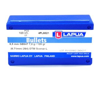 Lapua .264 / 6.5mm 120 Grain Hollow Point Boat Tail Scenar-L (100)