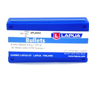 Lapua .243 / 6mm 105 Grain Hollow Point Boat Tail Scenar-L (100)