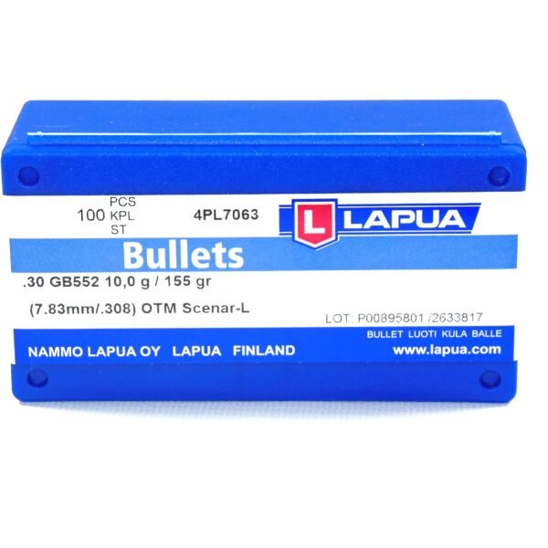Lapua .308 / 30 155 Grain Hollow Point Boat Tail Scenar-L (100)