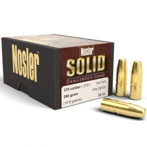 Nosler .375 / 36 260 Grain Flat Point Dangerous Game Solid (25)