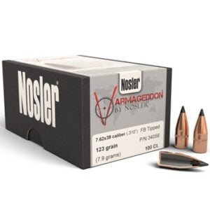 Nosler .310 123 Grain Flat Base Tipped (100 )