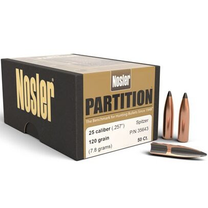Nosler .257 / 257 120 Grain Spitzer Partition (50)