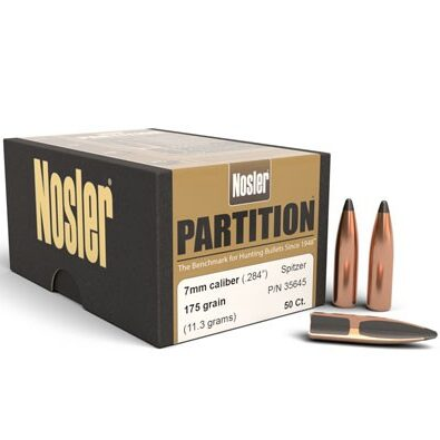 Nosler .284 / 7mm 175 Grain Spitzer Partition (50)
