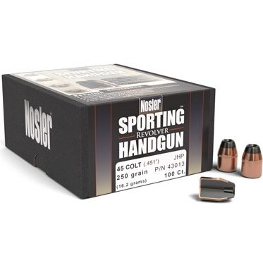 Nosler .451 / 45 Colt 250 Grain Jacketed Hollow Point (100)