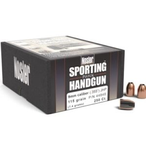 Nosler .355 / 9mm 115 Grain Jacketed Hollow Point (250)