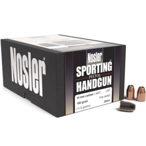 Nosler .400 / 40 180 Grain Jacketed Hollow Point (250)