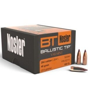 Nosler .204 / 20 40 Grain Spitzer Point Boat Tail (100)