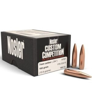 Nosler .284 / 7mm 168 Grain Hollow Point Boat Tail Custom Competition (100)