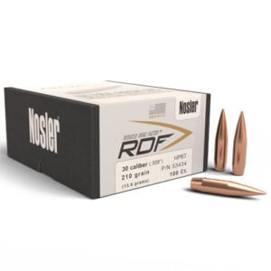 Nosler .308 / 30 210 Grain Hollow Point Boat Tail RDF (Reduced Drag Factor) (100)