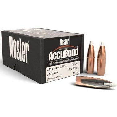 Nosler .375 / 36 300 Grain Spitzer Point Accubond (50)