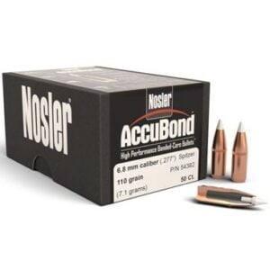 Nosler .277 / 6.8mm 110 Grain Spitzer Point AccuBond (50)