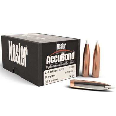 Nosler .338 / 338 300 Grain Spitzer Point Accubond (50)