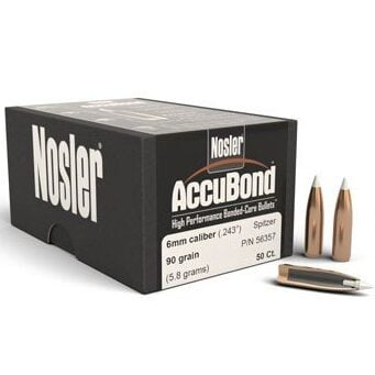 Nosler .243 / 6mm 90 Grain Accubond (50)