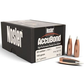 Nosler .308 / 30 150 Grain Spitzer Point Accubond (50)