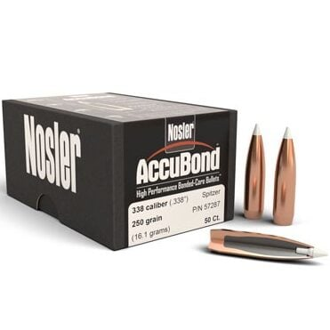 Nosler .338 / 33 250 Grain Spitzer Point Accubond (50)