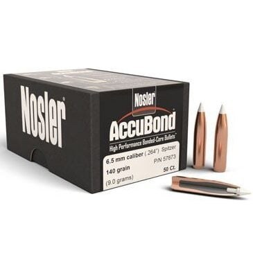 Nosler .264 / 6.5mm 140 Grain AccuBond (50)