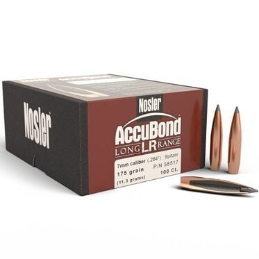 Nosler .284 / 7mm 175 Grain Spitzer Point AccuBond Long Range (100)