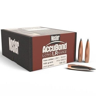 Nosler .284 / 7mm 168 Grain Spitzer Point AccuBond Long Range (100)