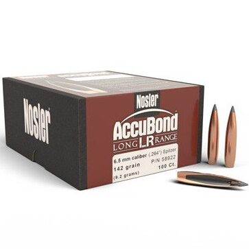 Nosler .264 / 6.5mm 142 Grain Spitzer Point AccuBond Long Range (100)