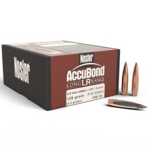Nosler .264 / 6.5mm 129 Grain Spitzer Point AccuBond Long Range (100)