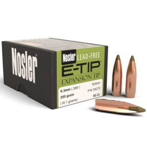 Nosler .366 / 9.3mm 250 Grain E-Tip (Lead Free) (50)