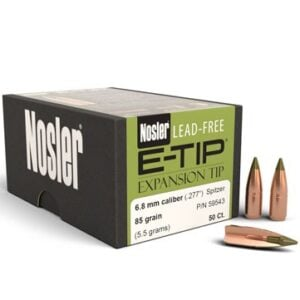 Nosler .277 / 6.8mm 85 Grain E-Tip (Lead Free) (50)