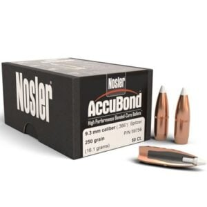 Nosler .366 / 9.3mm 250 Grain Accubond (50)