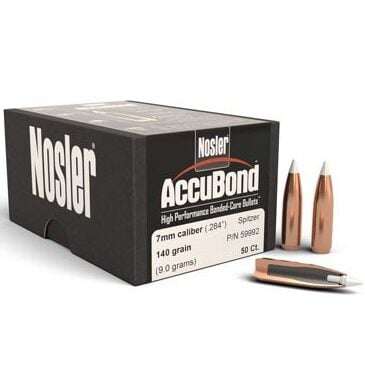 Nosler .284 / 7mm 140 Grain Spitzer Point AccuBond (50)