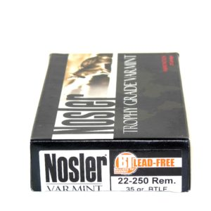 Nosler Ammo 22-250 Rem 35 Grain Boat Tail (Lead Free) (20)